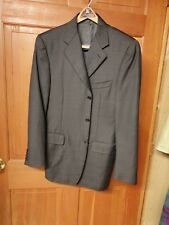 Canali Wool Plaid Blazer Saks Fifth Avenue IT 48 US 38 3 Button Made in Italy