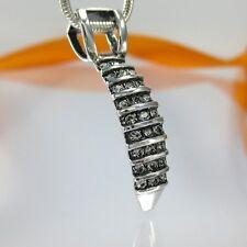 A099 Anhänger Kralle 925 Silber Schmuck mit Swarovski Elements Kristallsteine