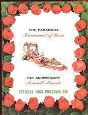 1963 NCAA Football Tournament of Roses Program VGEX