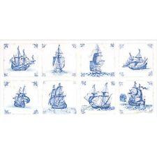 """THEA GOUVERNEUR  482  Antique Dutch Tiles  """"Delft Blue""""   Point de Croix  Compté"""