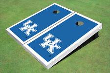 University Of Kentucky White Matching Border Custom Cornhole Board
