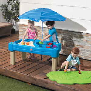 """Step2 42.5"""" x 20.5"""" Plastic Tan Play Sand and Water Table with Cover"""