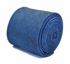 Frederick Thomas blue denim 100% cotton mens tie FT2168 RRP £19.99
