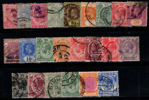 Straits Settlements 1892-1936 Used 100% Queen Victoria, King Edward, George V