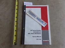 CASE 420 430 440 Baler All-Twine Knotter International Service Manual GSS-1424K