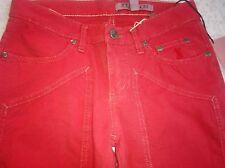 New! Jeckerson pantaloni jeans estivi rossi  bambino ragazzo 10 anni