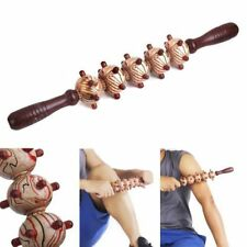 Wood Roller Trigger Point Massage Stick Body Therapy Massager Muscle Relief Tool