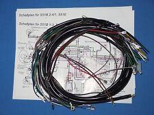 Simson S50 S51 Kabelbaum  im Set mit Schaltplan