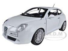 ALFA ROMEO MITO WHITE 1/24 DIECAST MODEL CAR BY MOTORMAX 73371