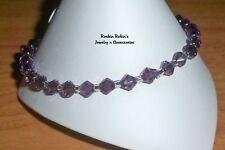"""Bracelet - 10"""" Violet Stretch Anklet Ankle"""