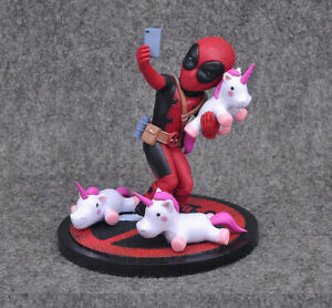 Anime Manga Marvel Deadpool Unicorn Selfie Action Figuren Figur Figure Statue
