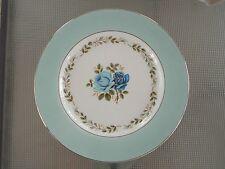 """Barratt's England Delphatic White 10"""" Dinner Plate Delphatic White Blue Roses"""