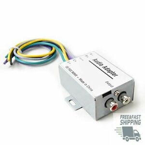Car Stereo Audio Speak Signal Hi-Low Converter for Auto Amp Subwoofer Amplifier