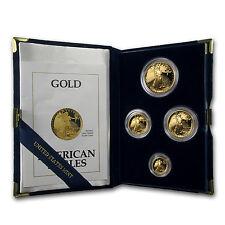1991 4-Coin Proof Gold American Eagle Set (w/Box & COA) - SKU #4893