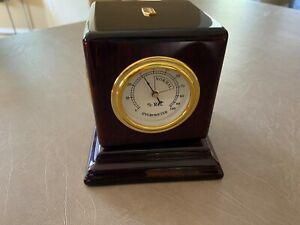Howard Miller Tektronix Hygrometer Thermometer Frame Clock Tabletop Pedestal