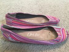 TOMS Multi-Colored Slip On Shoes Flats womens 9