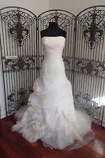 339 BLUE BY ENZOANI ETOWAH SZ 10 IVORY  WEDDING GOWN DRESS