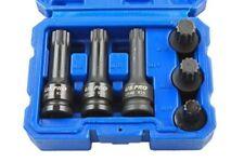 "6pc 1/2"" Dr Impact Spline Socket set  / Triple Square  M14 - M18 By US Pro 1379"