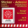 Adesivi Segnaletica Sicurezza / allarme antincendio