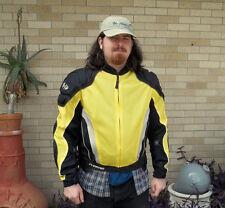Joe Rocket Padded Motorcycle Jacket SZ LG Black Yellow & Gray Nice Barely Used