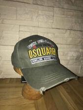 VERT KAKI Snapback Casquette De Baseball Taille Unique Chapeau DSQUARED Frères