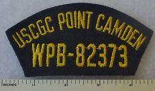 USCGC POINT CAMDEN WPB-82373 - US COAST GUARD CUTTER HAT / CAP PATCH 1970-1999