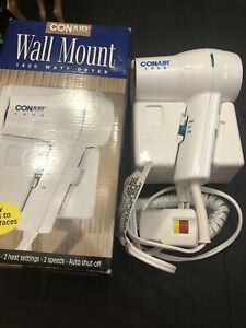 Conair Model 113 Wall Mount 1400 Watt Compact Lightweight Hair Dryer NEW IN BOX