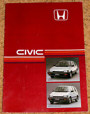 1985 HONDA CIVIC SHUTTLE & SHUTTLE 4WD Sales Brochure