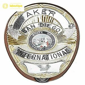 Aker Leather Products A591-BP Clip-On Badge Holder Shield Badge - FREE Shipping!