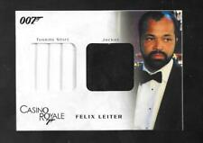 James Bond In Motion 2008 Double Costume card DC04 Felix Leiter 0069/1200