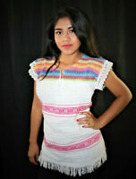 Handmade Womens Mexican Hippie Boho Blouse Size Medium More Colors Available