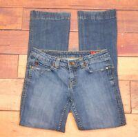 "Seven 7 Womens Med Wash Premium Denim Boot Cut Jeans Size 28"" Waist x 30"" Length"