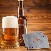 Stainless Steel Bottle Opener Bar Tool Men Gift Playing Card Ace of Spades Poker