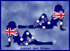 AUSTRALIA FLAG Bikini Girls Small Funny Window Car Stickers Caravan-STG214BTP