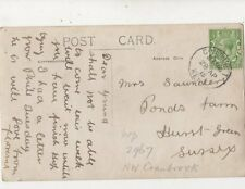 Mrs Saunders Ponds Farm Hurst Green Sussex 1915 824a