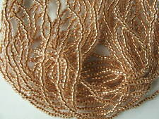 Preciosa size 11/0 Copper Lined Clear (Half Hank) Seed Beads