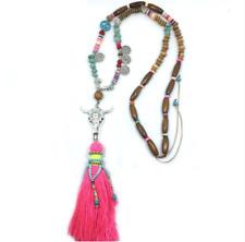 Tibet India New Ethnic Long Tassel Shell Beads Hippy Peace Necklace Tribal Boho