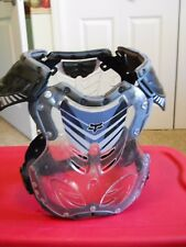Fox Racing Clear & Black Chest Protector BMX Bike Adult or Teen Size L Pre-owned