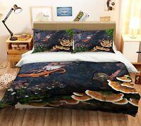 3D Wild Mushrooms Lizard KEP144 Bed Pillowcases Quilt Duvet Cover Kay
