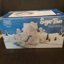 Complete Precious Moments Sugar Town Post Office Set Collectible Christmas