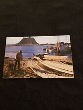 Indian Fisherman at LA Push Washington Nets are Inspected - Old Postcard 10214