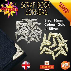 Scrap Booking Corners Albums Menus Folders Book Metal Protectors Gold Silver UK