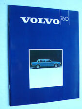 Prospekt Volvo Serie 760 GLE -Turbo, 1985, 36 Seiten, Hochglanz