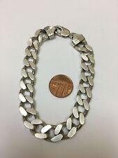 Attractive GENTS Sterling Silver CURB LINK BRACELET 64.4g