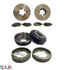FORD TRANSIT 2.4 RWD 2000-2006 REAR BRAKE DRUMS & SHOES FRONT DISCS & PADS DRUM