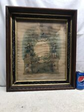 Vtg ANTIQUE Ancient Order Of Foresters FRATERNITY LODGE Shadow Box FRAME