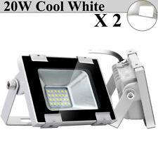 2X 20W Watt Led Flood Light Cool White Outdoor Security Work Spotlight Lighting