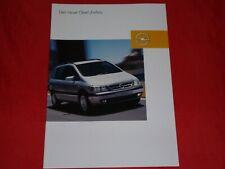 OPEL Zafira A Basis Njoy Elegance Executive Edition Prospekt Brochure von 2003