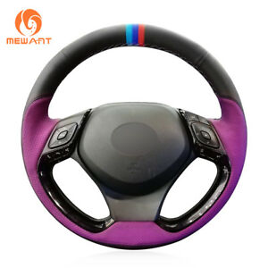 DIY Customized Soft Leather Steering Wheel Cover for Toyota C-HR CHR 2018 2019
