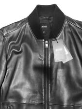 hugo boss leather jacket men